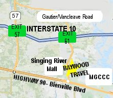 Map and directions to Baywood Travel